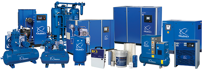 Authorized Distributor of Quincy Air Compressors